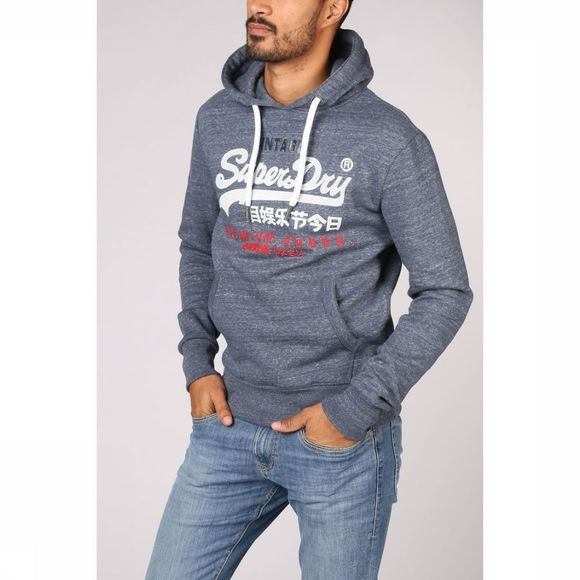 Superdry Pullover Premium Goods Tri Infill Hood jeans blue