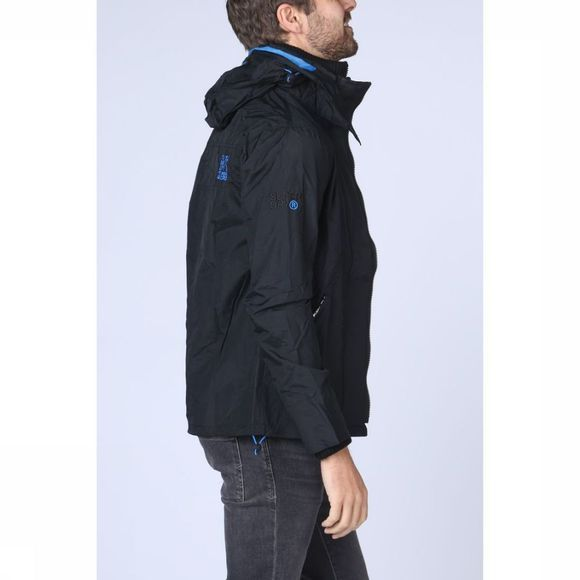 Superdry Jas Tech Hood Pop Zip Wndcheter Nb Zwart