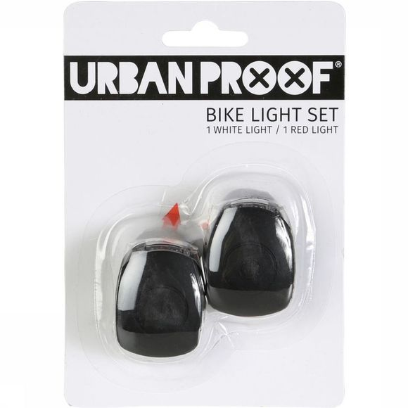 UrbanProof Bike Lighting Silicon Bike Set black
