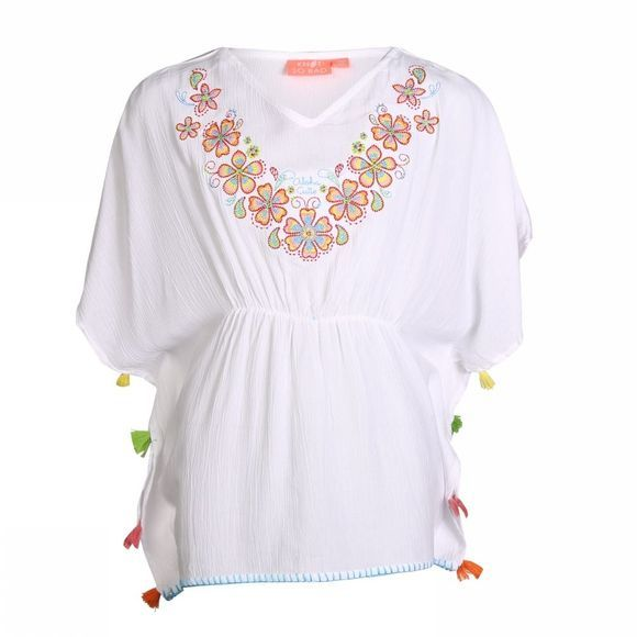 Knot so bad Robe Embroidery Blanc