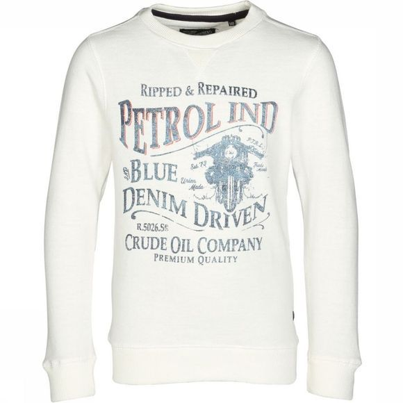 Petrol Pull Sweat R-Neck Blanc Cassé