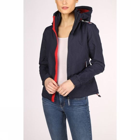 Superdry Coat Technical Hooded Cliff Hiker Marine/Mid Red