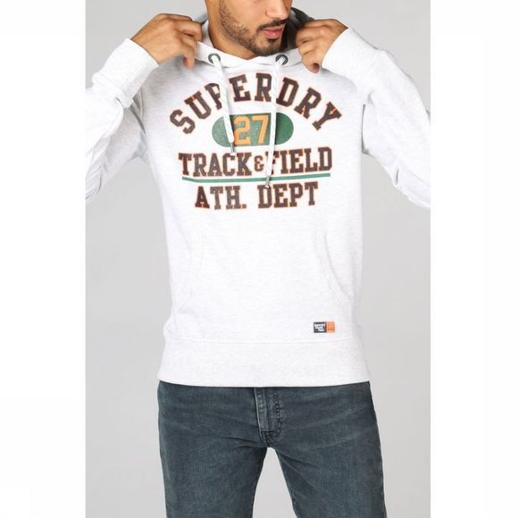 Superdry Pullover Track & Field Lite Hood Light Grey Mixture