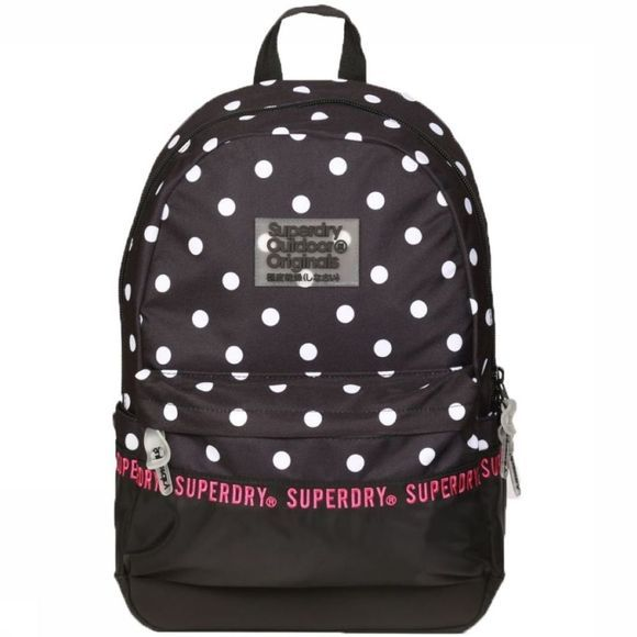 Superdry Dagrugzak Repeat Series Montana Zwart/Wit