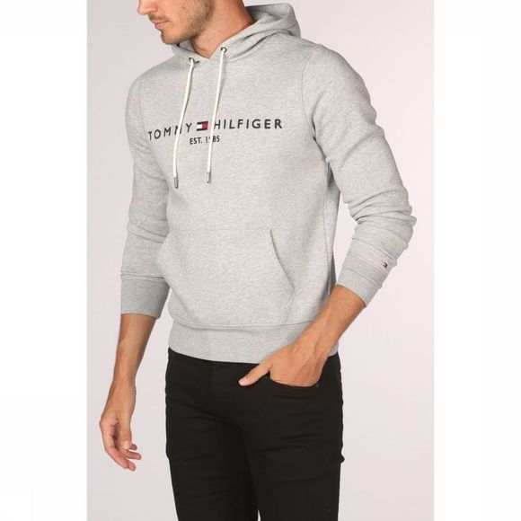 Tommy Hilfiger Pull Tommy Logo Hoody Gris Clair Mélange