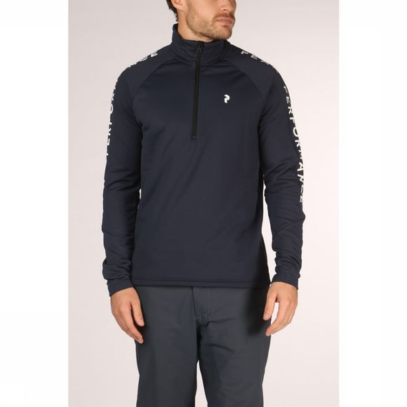 Peak Performance Fleece Ride Hz Donkerblauw