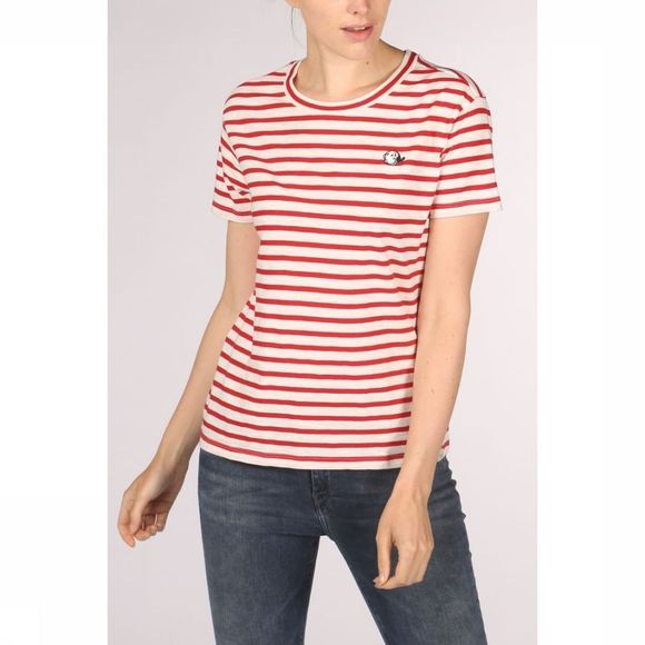 Maison Scotch T-Shirt 150699 Middenrood/Wit