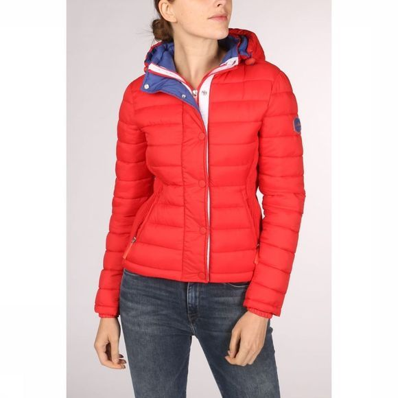 Superdry Manteau Fuji Slim Double Ziphood Rouge Moyen