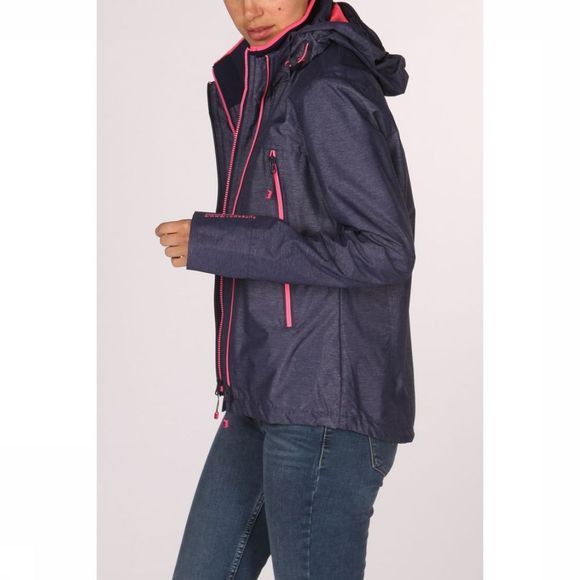 Superdry Jas Tech Velocity Sd-Windcheater Marineblauw/Middenroze