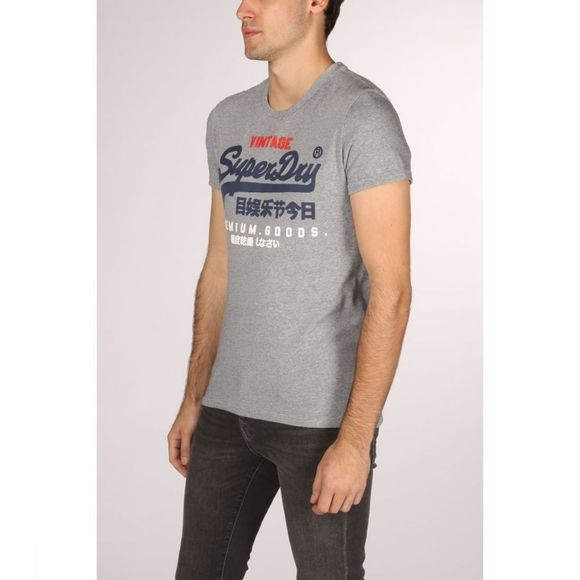 Superdry T-Shirt Premium Goods Tri Gris Clair