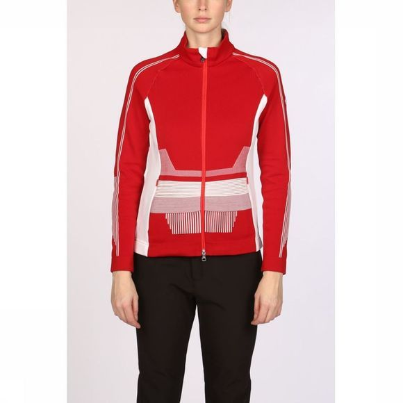 Poivre Blanc Fleece Jacket red