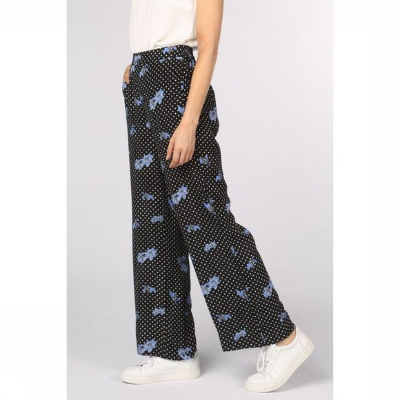 Soft Rebels Pantalon Karline Noir/Assortiment Fleur