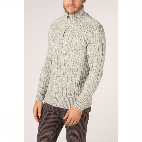 Superdry Pull Jacob Henley Gris Clair