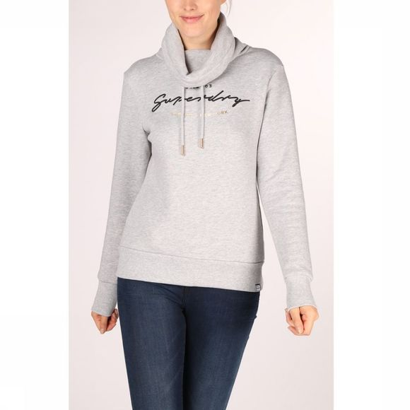 Superdry Pull Applique Funnel Hood Gris Moyen
