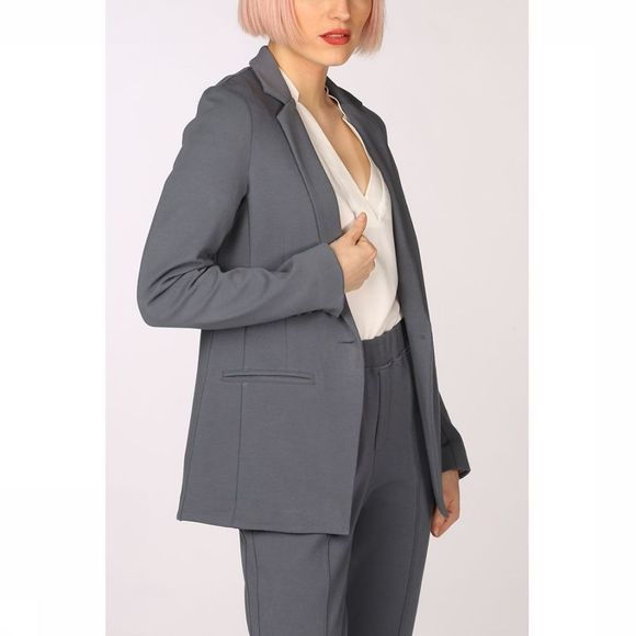 Yaya Blazer Jersey Tailored Middenblauw