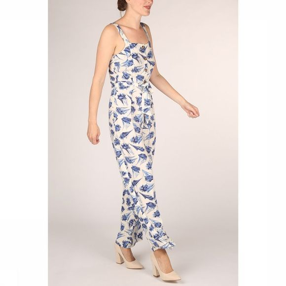 King Louie Jumpsuit Ines Loveboat Wit/Lichtblauw