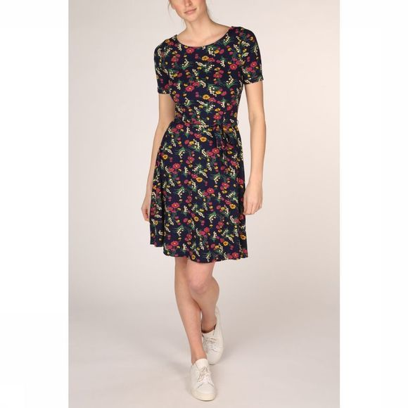 King Louie Dress Betty Valley Marine/Assortment Flower