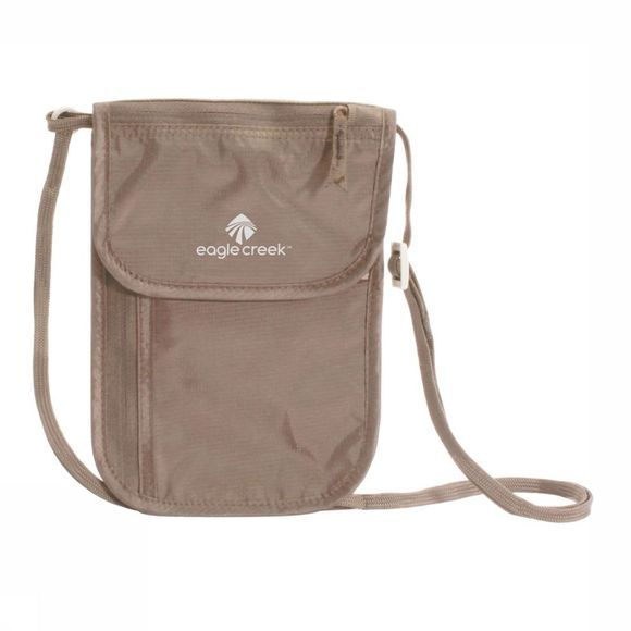 Eagle Creek Securitybag Neck Wallet Dlx light khaki