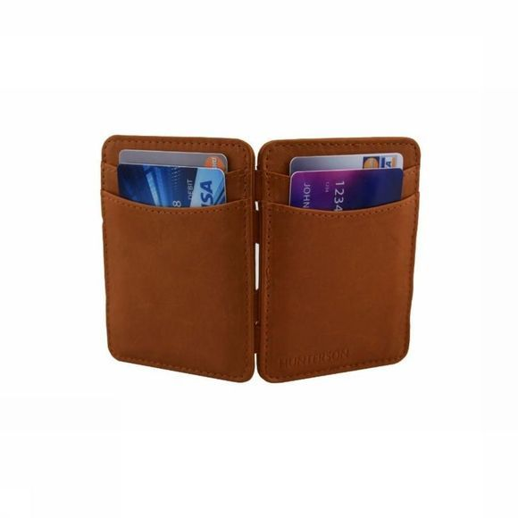 Hunterson Portefeuille Leather RFID Magic Wallet Kameelbruin