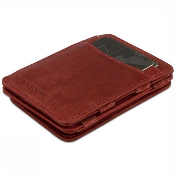 Hunterson Portefeuille Leather RFID Magic Coin Wallet Bordeaux