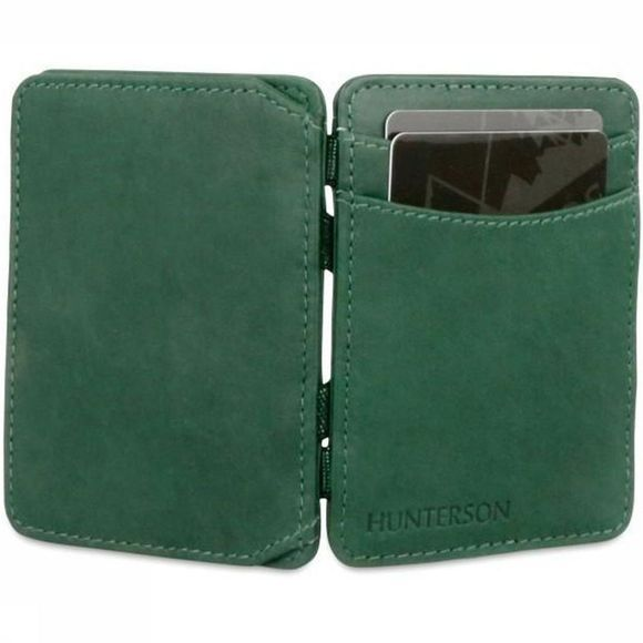 Hunterson Portefeuille Leather RFID Magic Coin Wallet Vert Foncé