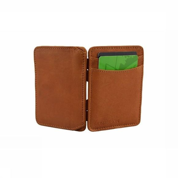 Hunterson Portefeuille Leather RFID Magic Coin Wallet Chameau