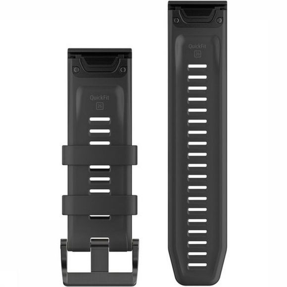 Garmin GPS Acc Quickfit 26 Watch Band And Black Silicone Zwart