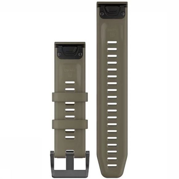 Garmin Gps Quickfit 22 Watch Band Coyote Tan Silicone mid grey