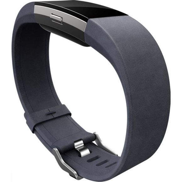 Fitbit Sportacc Charge Hr 2 Accessory Band Leather L Indigoblauw