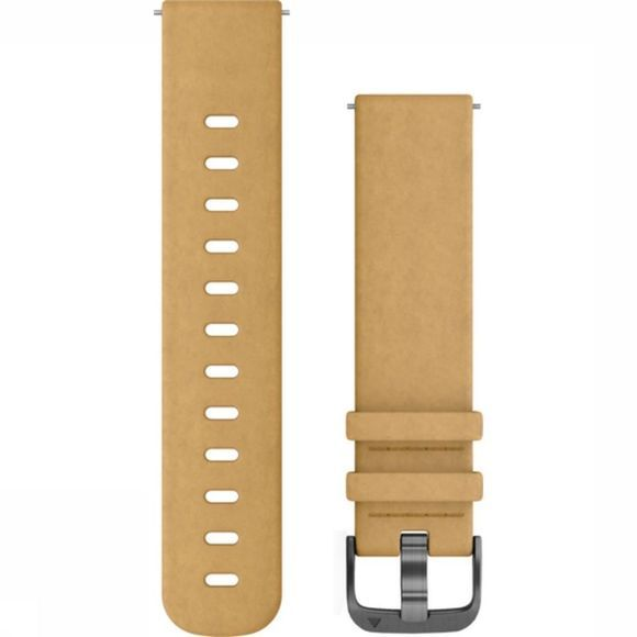 Garmin Sport Quick Release Band Tan Suede With Slate Hardware Jaune Moyen