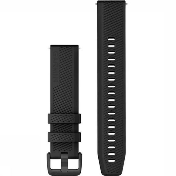 Garmin SportQuick Release Band Silicone With Black Stainless Steel Hardware Zwart