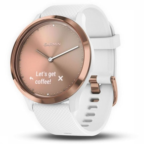Garmin Activity Tracker Vivomove Hr Sport S/M Rose Clair/Blanc
