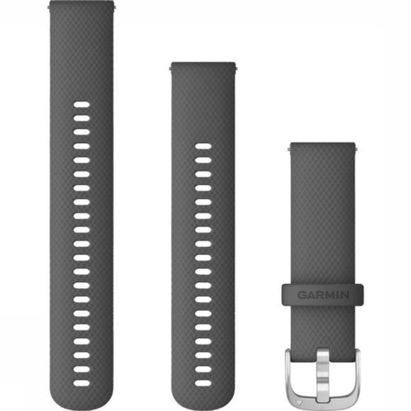 Garmin Watch Strap Met Snelsluiting 22 Mm Siliconen mid grey/silver