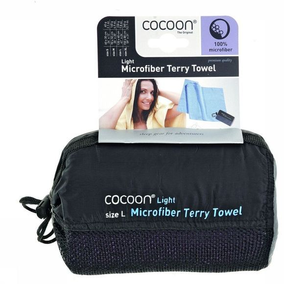 Cocoon Handdoek Terry Towel Light Donkerblauw