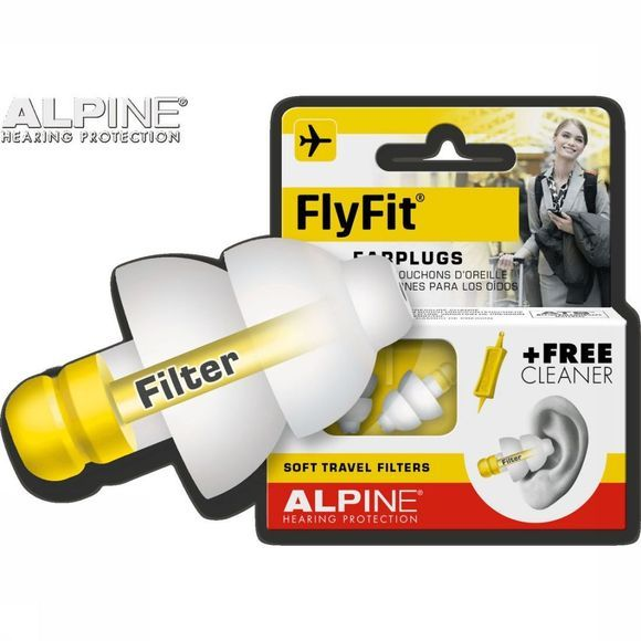 Alpine Oordopjes Earplugs Fly Fit Middengeel/Wit