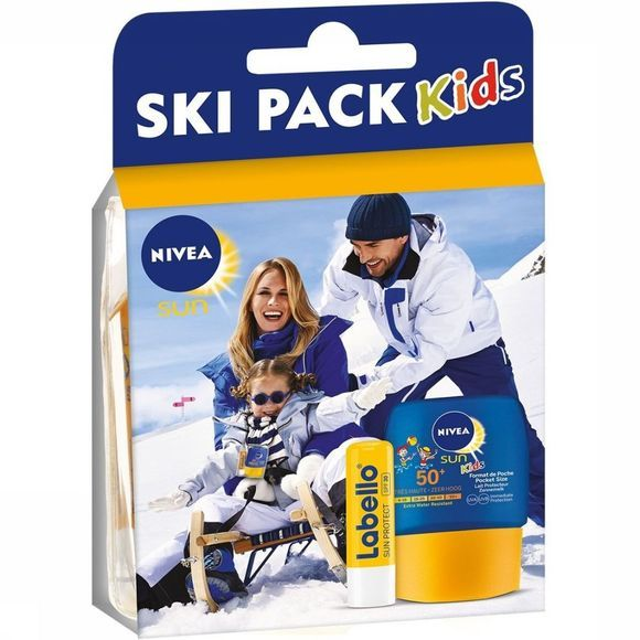 Nivea Protection Solaire Ski Pack Labello Sun+Pocket Kids F50 Pas de couleur