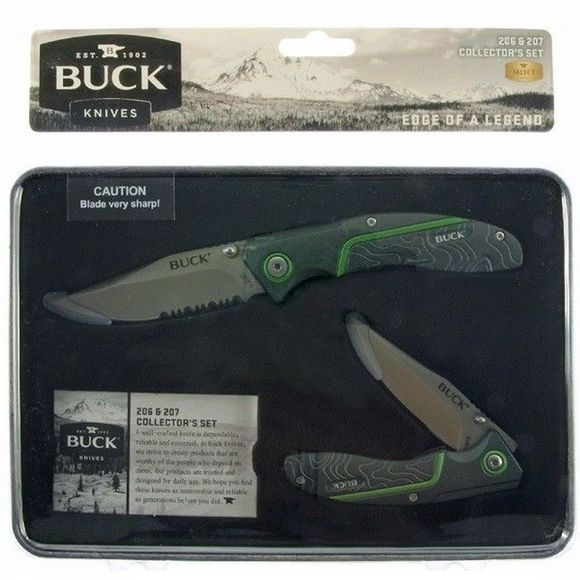 Buck Knives Mes 206 And 207 Collector's Set Geen kleur