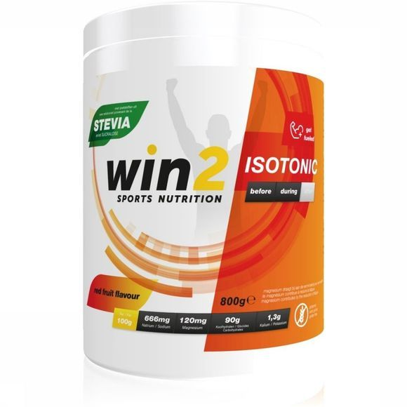 Win2 Poeder Isotonic Red Fruits 800g Geen kleur