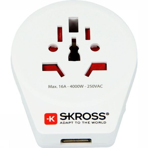 S-Kross Adaptateur Universel World To Europe USB Blanc