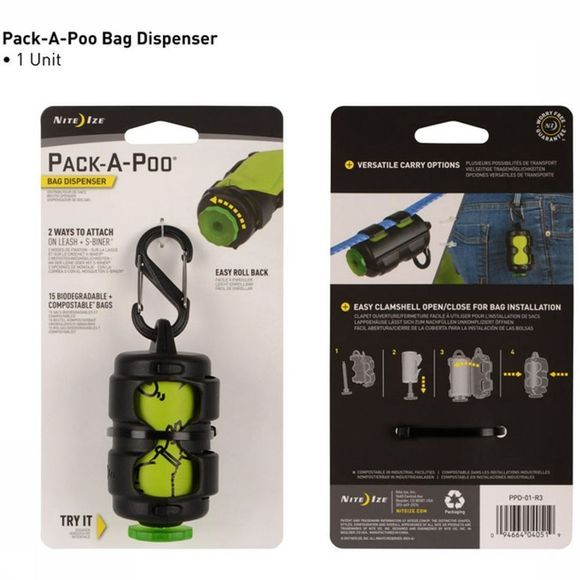 Nite Ize Diverse Pack A Poo Dog Poo Bag Dispenser Geen kleur