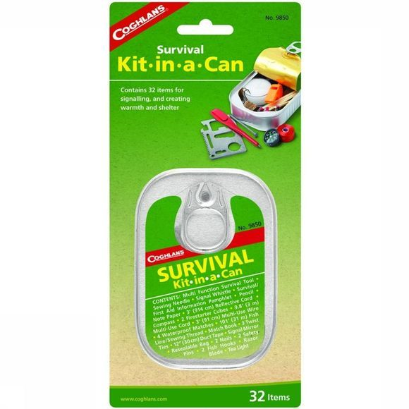 Coghlan's Diverse Survival Kit-In-A Can New Geen kleur