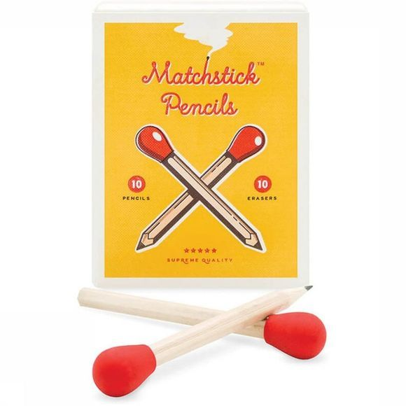 Luckies Gadget Matchstick Pencils Lichtbruin/Middenrood
