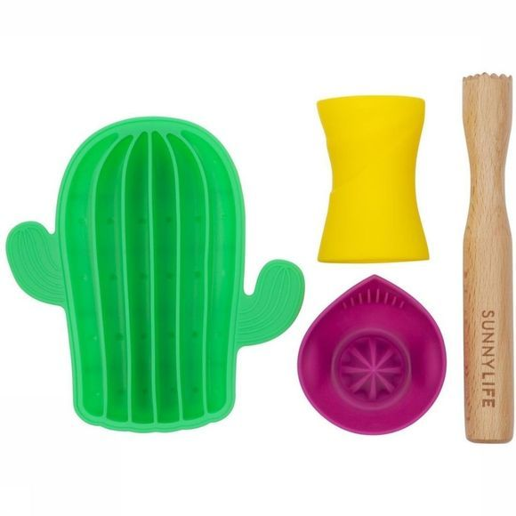 Sunnylife Gadget Mojito Cocktail Set Middengroen/Assortiment