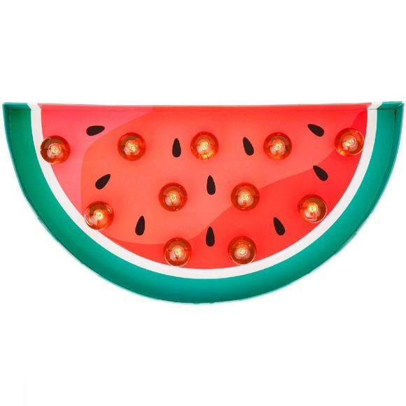 Sunnylife Gadget Watermelon Marquee Light Middenrood/Middengroen