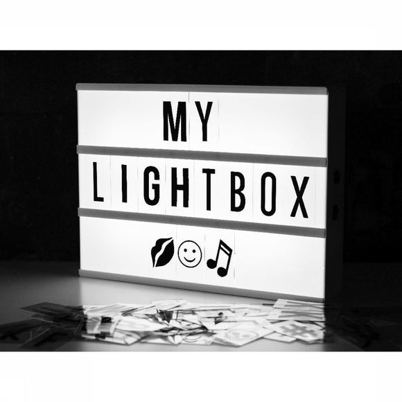 Locomocean Gadget A4 Lightbox 85 Letters And Symbols Wit/Zwart