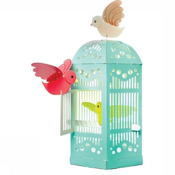 Clockwork Soldier Gadget Beautiful Birdcage White/Turquoise