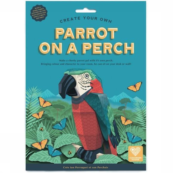 Clockwork Soldier Gadget Parrot On A Perch Rouge Moyen/Assortiment