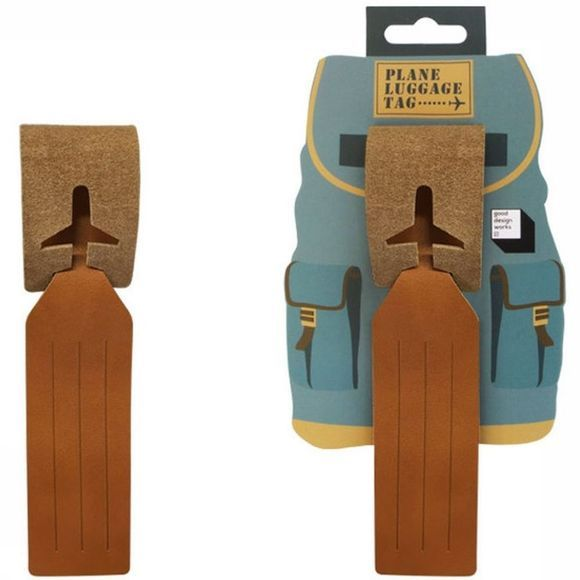 Good Design Works Gadget Leather Luggage Tag Kameelbruin