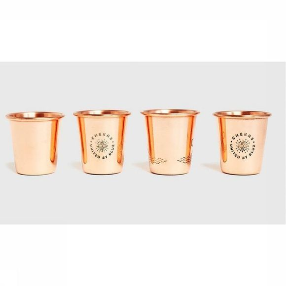 United by Blue Petits Verres Emaillés Shot Glasses Cuivre