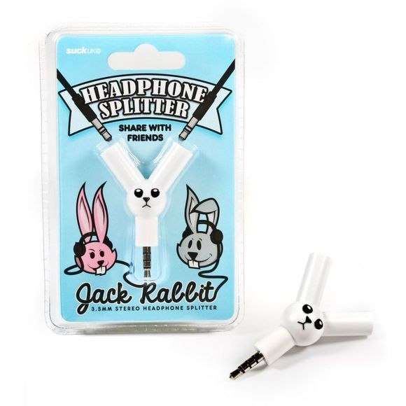 Suck UK Gadget Jack Rabbit Wit/Zwart